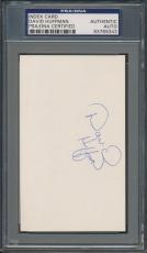 David Huffman Index Card PSA/DNA Certified Authentic Auto Autograph Signed *9343