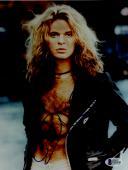 "David Lee Roth Autographed 8""x 10"" Van Halen Wearing Black Leather Jacket Photograph - BAS COA"