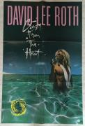David Lee Roth Signed 1986 Original 23x35 Poster Van Halen RARE Auto JSA COA