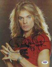 David Lee Roth Signed 8x10 Photo Autograph Auto PSA/DNA X78249