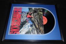 David Lee Roth Signed Framed 1988 Skyscraper Record Album Display Van Halen