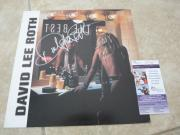 David Lee Roth Van Halen Signed Autographed LP Record Flat Poster JSA Certified