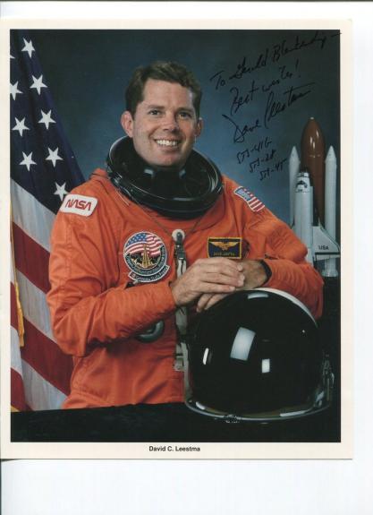 David Leestma NASA Astronaut STS Space Rare Signed Autograph Photo