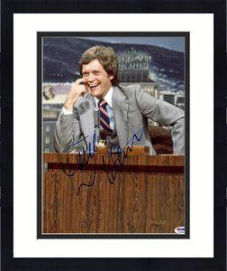 David Letterman Autographed 11x14 Poster Photo UACC RD AFTAL COA PSA