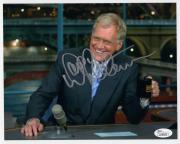 DAVID LETTERMAN HAND SIGNED 8x10 COLOR PHOTO    GREAT POSE    LATE NIGHT     JSA