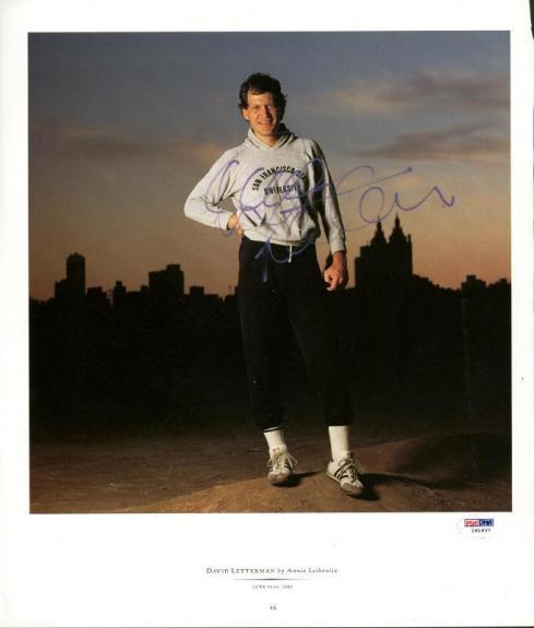 David Letterman Signed 11.5X13.5 Magazine Page Photo PSA/DNA #I81937