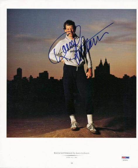 David Letterman Signed 12X14 Magazine Page Photo PSA/DNA #V27670