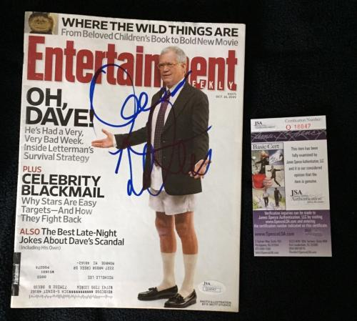 David Letterman Signed Entertainment Weekly Magazine JSA Authenticated