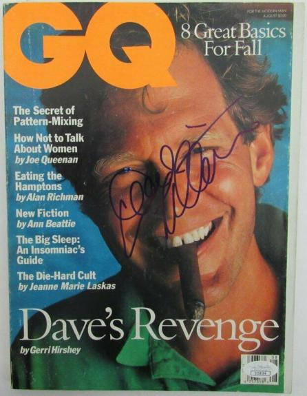 David Letterman Signed GQ Magazine  August 1993 No Label JSA 141541