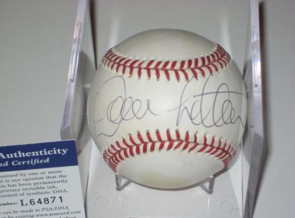 DAVID LETTERMAN Signed Official American League Baseball w/ PSA COA