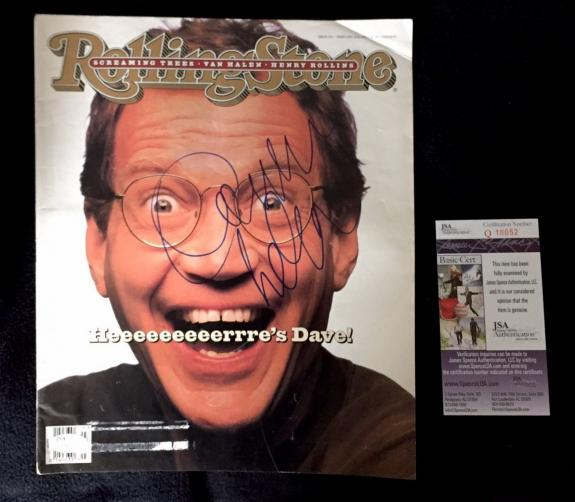 David Letterman Signed Rolling Stone Magazine JSA Authenticated