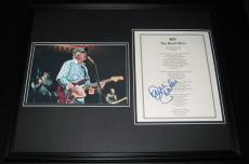 David Marks Signed Framed 16x20 409 Beach Boys Lyrics & Photo Display