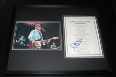 David Marks Signed Framed 16x20 409 Beach Boys Lyrics & Photo Poster Display