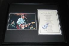 David Marks Signed Framed 16x20 409 Beach Boys Lyrics & Photo Poster Display