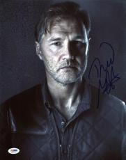 David Morrissey The Walking Dead Signed 11X14 Photo PSA/DNA #S96574