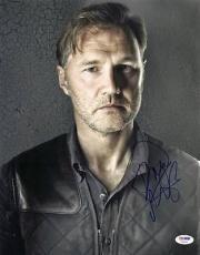 David Morrissey The Walking Dead Signed 11x14 Photo Psa/dna #v20400