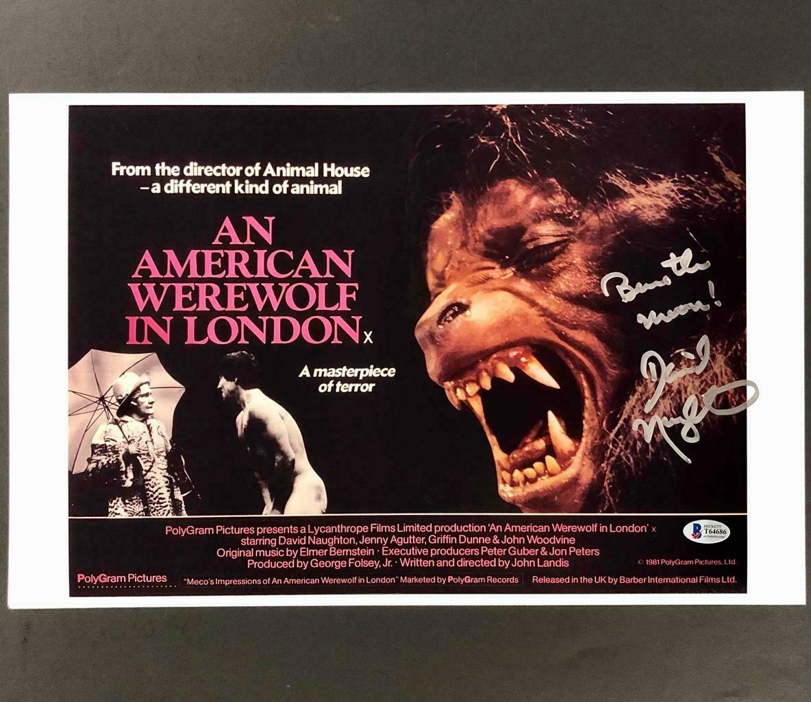 David Naughton Autograph 8x10 Photo An American Werewolf