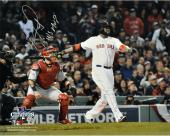 David Ortiz Boston Red Sox 2013 World Series Champions Autographed 16'' x 20'' Home Run Swing Photograph with 2013 WS MVP Inscription - Mounted Memories