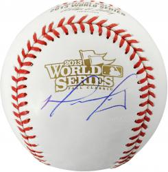 David Ortiz Boston Red Sox 2013 World Series Champions Autographed World Series Logo Baseball - Mounted Memories