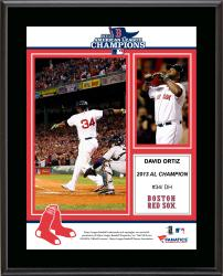 David Ortiz Boston Red Sox 2013 American League Champions Sublimated 10.5'' x 13'' Plaque - Mounted Memories