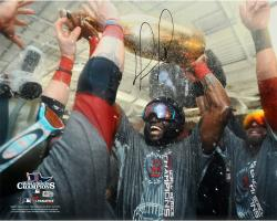 "David Ortiz Boston Red Sox 2013 World Series Champions Autographed 16"" x 20"" Champagne Photograph"