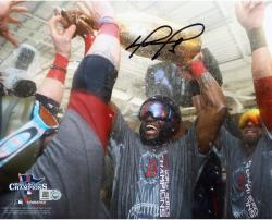 David Ortiz Boston Red Sox 2013 World Series Champions Autographed 8'' x 10'' Champagne Photograph - Mounted Memories