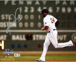 David Ortiz Boston Red Sox 2013 World Series Champions Autographed 8'' x 10'' Green Monster Photograph - Mounted Memories