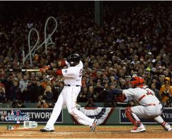 David Ortiz Boston Red Sox 2013 World Series Champions Autographed 8'' x 10'' Home Run Swing 2 Photograph - Mounted Memories
