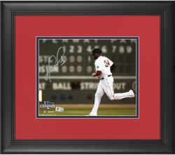 "David Ortiz Boston Red Sox 2013 World Series Champions Framed Autographed 8"" x 10"" Green Monster Photograph"