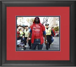 "David Ortiz Boston Red Sox 2013 World Series Champions Framed Autographed 8"" x 10"" Parade Photograph"