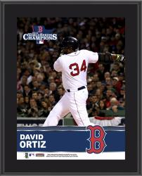 David Ortiz Boston Red Sox 2013 MLB World Series Champions 10'' x 13'' Sublimated Player Plaque - Mounted Memories