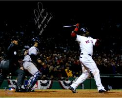 "David Ortiz Boston Red Sox Autographed 16"" x 20"" 2004 ALCS Photograph with Multiple Inscriptions"