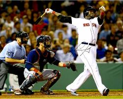 "David Ortiz Boston Red Sox Autographed 16"" x 20"" World Series Swing Photograph"