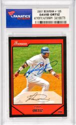 David Ortiz Boston Red Sox Autographed 2007 Bowman #125 Card
