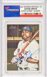 David Ortiz Boston Red Sox Autographed 2007 Bowman Heritage #75 Card