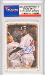 David Ortiz Boston Red Sox Autographed 2008 Upper Deck Masterpiece #15 Card