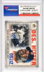 David Ortiz Boston Red Sox Autographed 2008 Upper Deck SP Legendary Cuts #7 Card