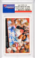 David Ortiz Boston Red Sox Autographed 2009 Topps #50 Card with This Is Our F'N City Inscription