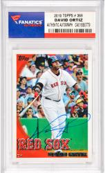 David Ortiz Boston Red Sox Autographed 2010 Topps #369 Card