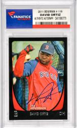 David Ortiz Boston Red Sox Autographed 2011 Bowman #109 Card