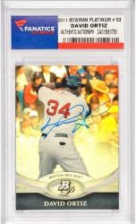 David Ortiz Boston Red Sox Autographed 2011 Bowman Platinum #53 Card