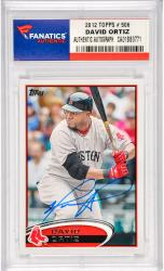 David Ortiz Boston Red Sox Autographed 2012 Topps #506 Card