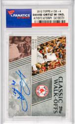 David Ortiz Boston Red Sox Autographed 2012 Topps Classis Walk Offs #CW-4 Card with Big Papi Inscription