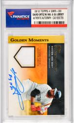 David Ortiz Boston Red Sox Autographed 2012 Topps Golden Moments #GMR-DO Card with Big Papi Inscription & Game Used Jersey Piece1