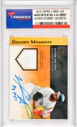 David Ortiz Boston Red Sox Autographed 2012 Topps Golden Moments #GMR-DO Card with Big Papi Inscription & Game Used Jersey Piece2