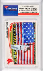 David Ortiz Boston Red Sox Autographed 2013 Topps #595 Shortprinted Variaton Card with This Is Our F'N City Inscription