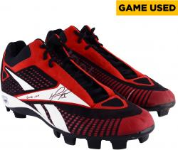 David Ortiz Boston Red Sox Autographed Game-Used Reebox Black Red and White Pair of Cleats with Game Use Inscription