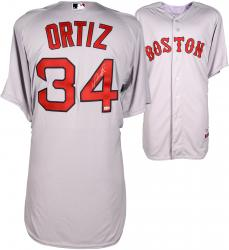 David Ortiz Boston Red Sox Autographed Majestic Authentic Grey Jersey