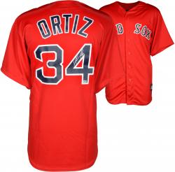 David Ortiz Boston Red Sox Autographed Majestic Replica Red Jersey
