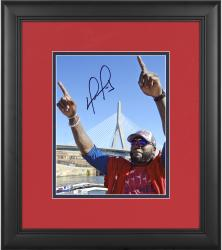 "David Ortiz Boston Red Sox Framed Autographed 8"" x 10"" Finger Tobin Bridge Photograph"